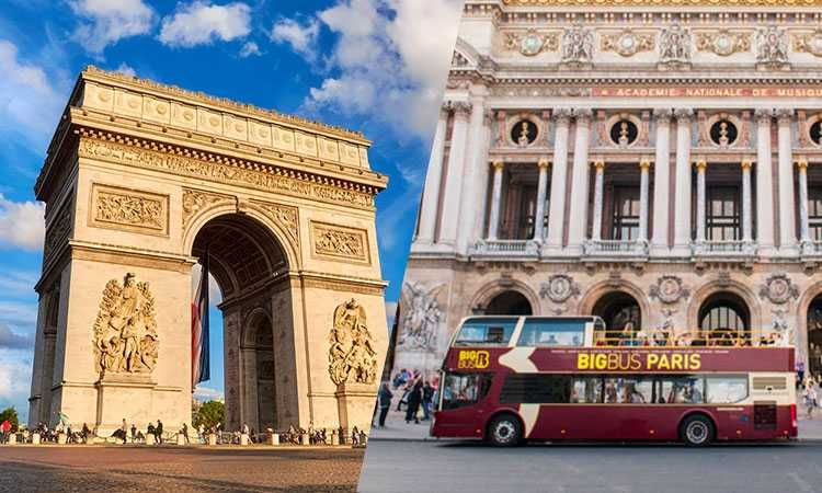 Big Bus Pass 1 jour & ticket coupe-file pour l'Arc de Triomphe