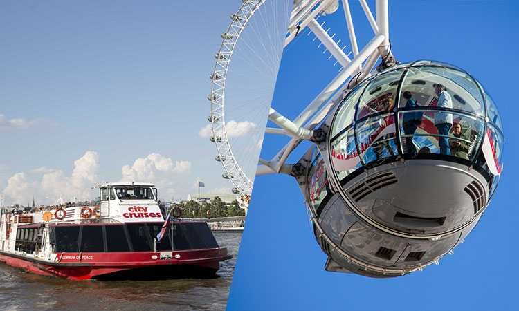 London Hop-on Hop-off Cruise & London Eye Ticket