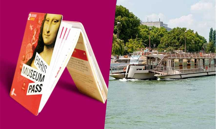 Paris Museum Pass 2-days & Seine Cruise Ticket