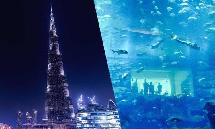 Aquarium de Dubai & billet pour le 124e étage du Burj Khalifa