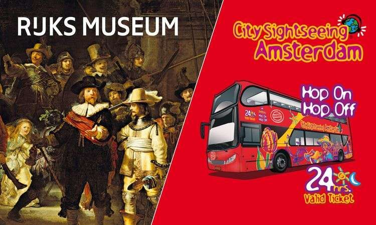 Rijksmuseum & Bus City Sightseeing 1 Day