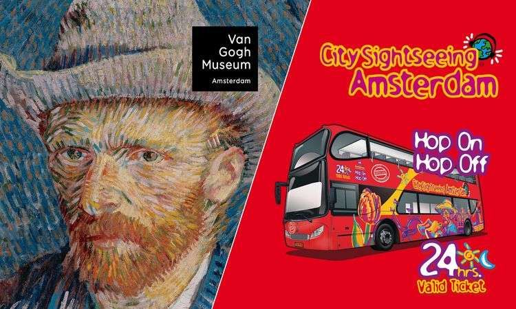 Skip-the-line ticket for the Van Gogh Museum and 24-hour ticket for Hop-on, Hop-off Bus