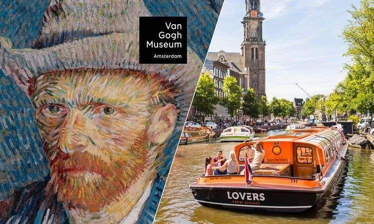 Billet accès rapide pour le musée Van Gogh et Croisière sur les Canaux