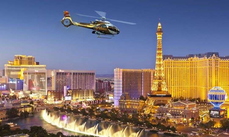 Las Vegas Strip Night Overflight by Helicopter