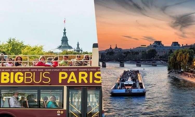 Big Bus Pass 2 Jours & Croisière sur la Seine